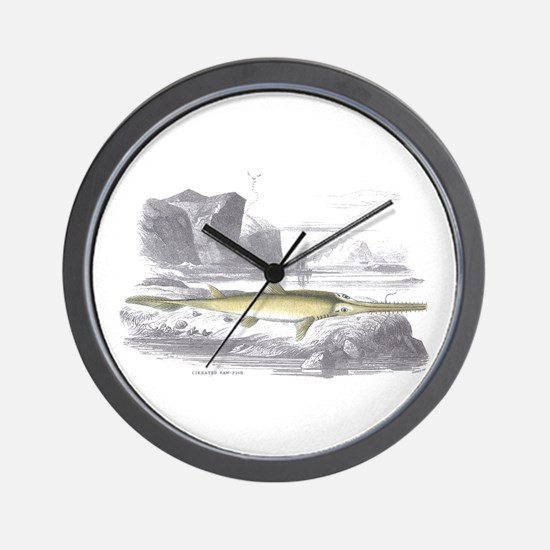 Swordfish Fish Wall Clock