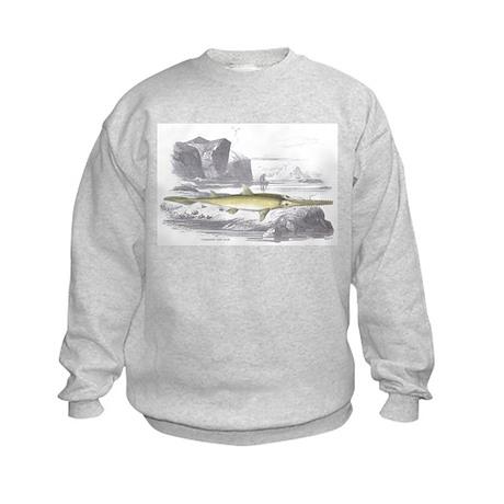 Sawfish Fish (Front) Kids Sweatshirt
