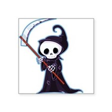 "Cute Little Death Square Sticker 3"" x 3"""