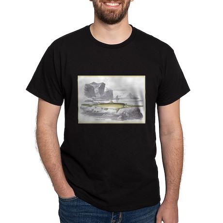 Sawfish Fish (Front) Black T-Shirt