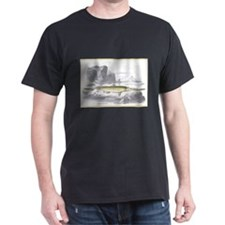 Sawfish Fish (Front) Black T-Shirt