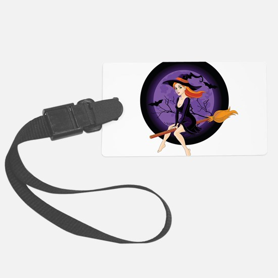 Red Headed Witch Luggage Tag