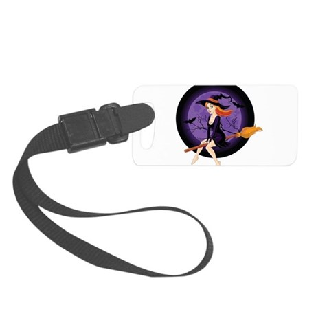 Red Headed Witch Small Luggage Tag