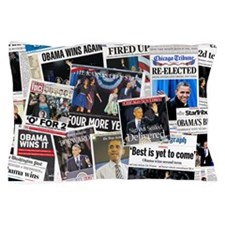 Obama 2012 Re-Election Collage Pillow Case