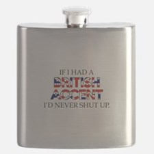 If I Had A British Accent Flask