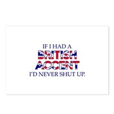 If I Had A British Accent Postcards (Package of 8)