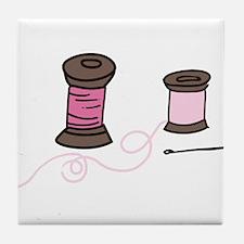 Sewing Spools Tile Coaster