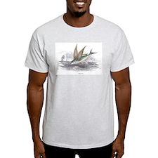 Flying Fish (Front) Ash Grey T-Shirt