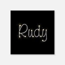 "Rudy Spark Square Sticker 3"" x 3"""
