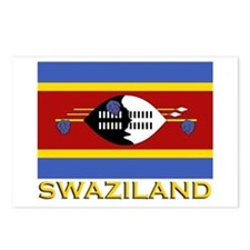 Swaziland Flag Gear Postcards (Package of 8)