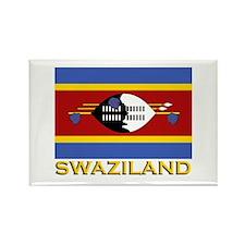 Swaziland Flag Gear Rectangle Magnet