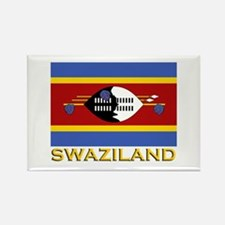 Swaziland Flag Gear Rectangle Magnet