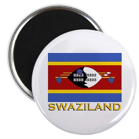 Swaziland Flag Gear Magnet