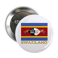 Swaziland Flag Gear Button