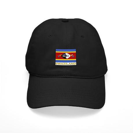 Swaziland Flag Gear Black Cap