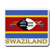 Swaziland Flag Gear Mousepad