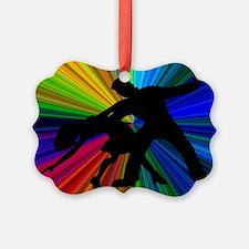 Dazzling Dance Silhouettes Ornament