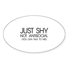 Just Shy Decal