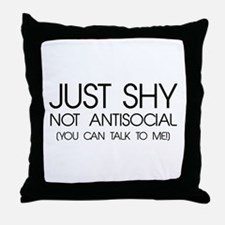 Just Shy Throw Pillow