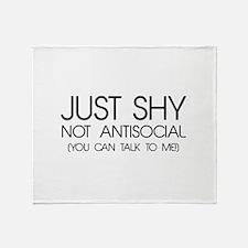 Just Shy Throw Blanket