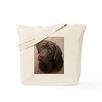 Chocolate Lab Portrait Painting Tote Bag