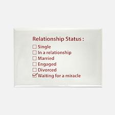 Relationship Status Rectangle Magnet