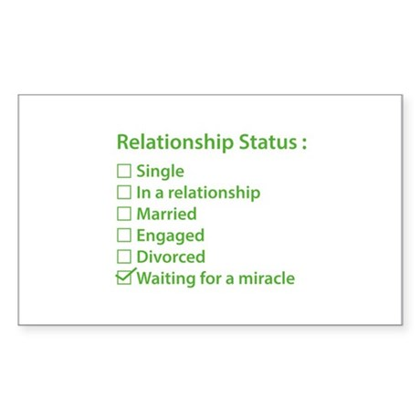 Relationship Status Sticker (Rectangle)