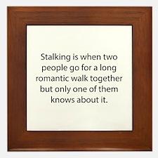 Stalking Framed Tile