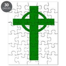 Green Celtic Cross Puzzle