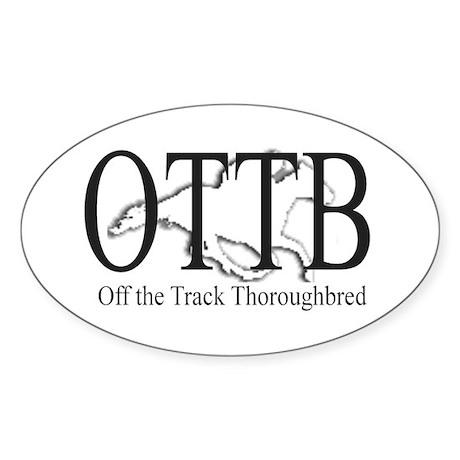 OTTB Oval Sticker