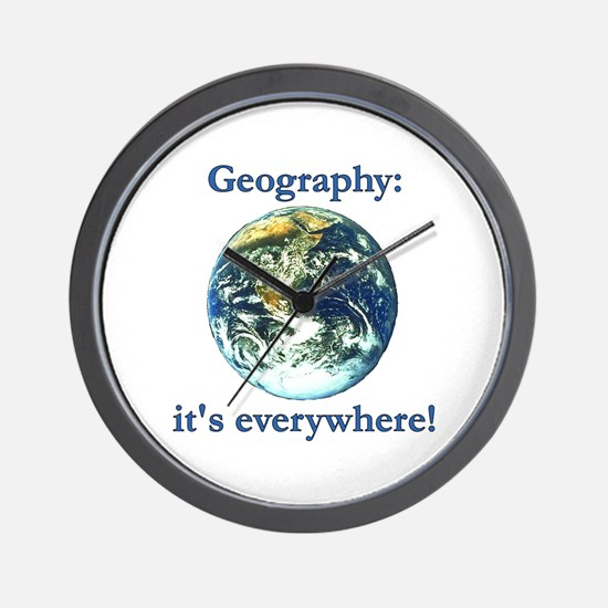 Geography Wall Clock