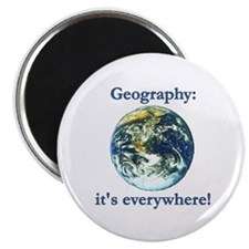 "Geography 2.25"" Magnet (100 pack)"