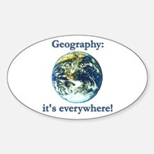Geography Oval Decal