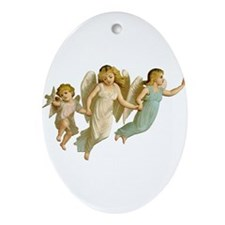 Angel Children Ornament (Oval)