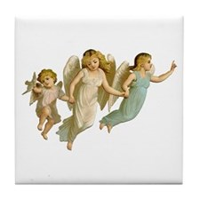 Angel Children Tile Coaster