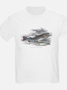 Trout Fish (Front) Kids T-Shirt
