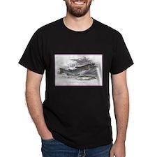 Trout Fish (Front) Black T-Shirt