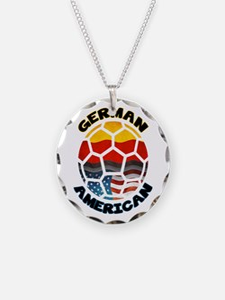 German American Football Soccer Necklace