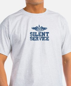 Silent Service with Submarine Dolphins T-Shirt