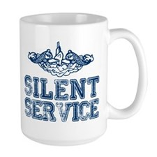 Silent Service with Submarine Dolphins Mug