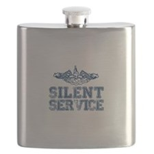 Silent Service with Submarine Dolphins Flask