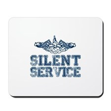 Silent Service with Submarine Dolphins Mousepad