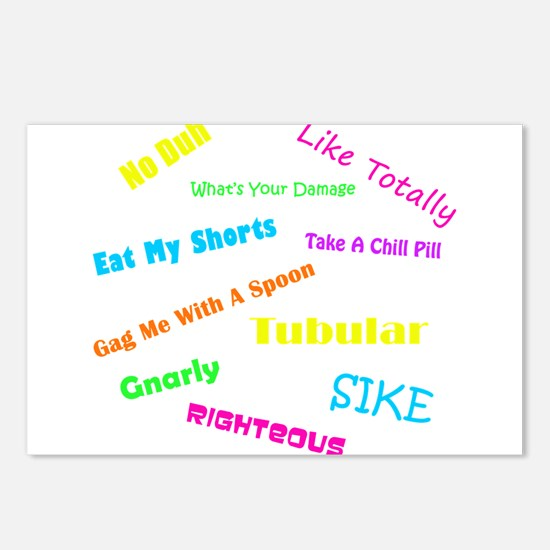 80s Phrases Postcards (Package of 8)