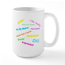80s Phrases Ceramic Mugs