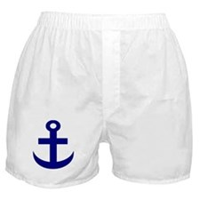 Anchor or Mariners Cross Blue Boxer Shorts