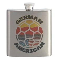 German American Football Soccer Flask