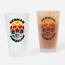 German American Football Soccer Drinking Glass