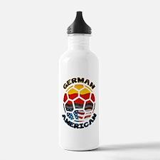 German American Football Soccer Water Bottle