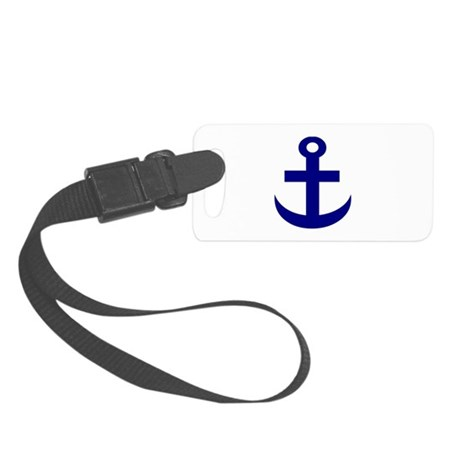 Anchor or Mariners Cross Blue Small Luggage Tag