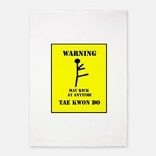 Taekwondo Warning 5'x7'Area Rug